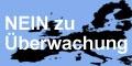 """""""Nein zu �berwachung"""" - Kleines Bild 120 x 60 Pixel"""
